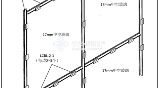 Double layer glass covering system for side wall